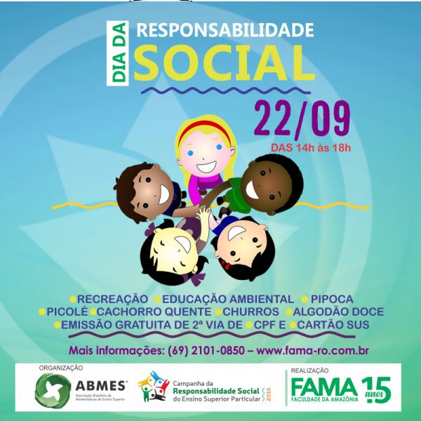 """FAMA vai realizar """"Dia da Responsabilidade Social"""""""