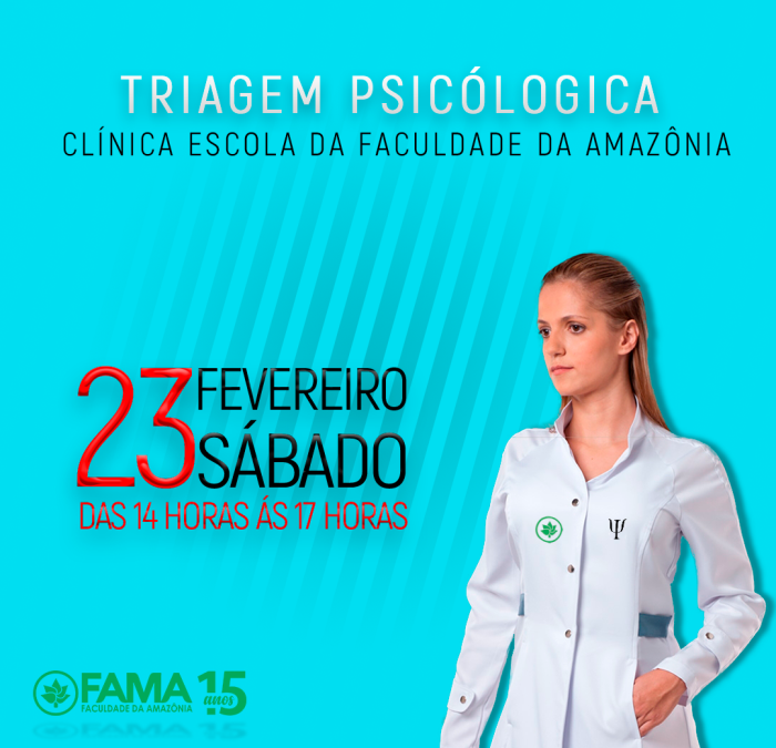 Clínica Escola de Psicologia da FAMA vai realizar triagem psicológica