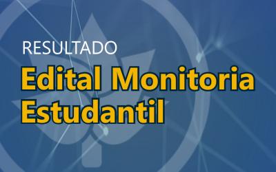Resultado do Programa Institucional de Monitoria Estudantil 2019