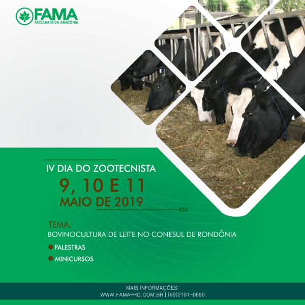 """Curso de Zootecnia da FAMA divulga tema do """"IV Dia do Zootecnista"""""""